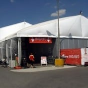 Logistics and storage tents